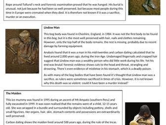Bog Bodies and Ice Mummies
