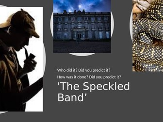 The Speckled Band - Home learning