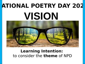 National Poetry Day 2020