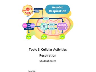 Cellular Activities Respiration for Applied Human Biology BTEC Level 3