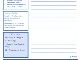 Specific Heat Capacity - Practical Pack