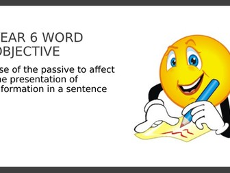 Year 6 PPT and Assessment: Active and Passive Sentences