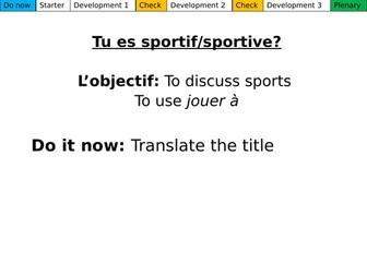 Tu es sportif? Dynamo 1 Module 3.1
