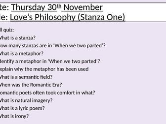 Poem - Love's Philosophy