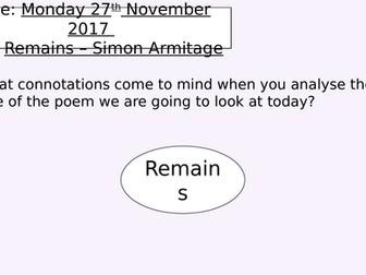 Remains - Simon Armitage