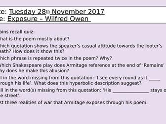 Exposure - Wilfred Owen