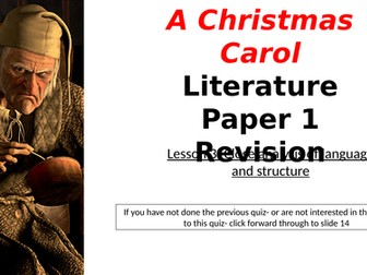 Christmas Carol Narrated Revision: Language and Structure