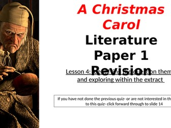 Christmas Carol Narrated Revision: Extract Theme