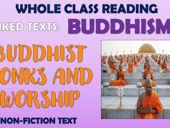 Buddhist Monks and Worship - Non Fiction Whole Class Reading Session!