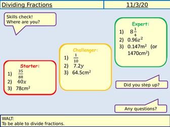 Dividing Fractions Lesson