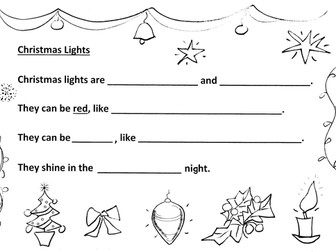 Christmas Lights are... Y1-2