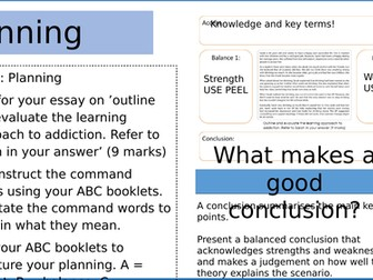 BTEC Applied Psychology - Unit 3:  Learning approach alcohol addiction 9 mark model answer