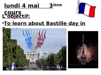 Full lesson on Bastille Day + recap of 'er' verbs