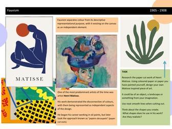 Henri Matisse Worksheet