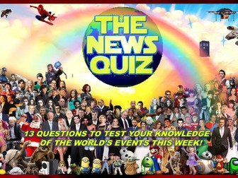 The News Quiz 4th -11th January 2021 Form Tutor Time Current Affairs
