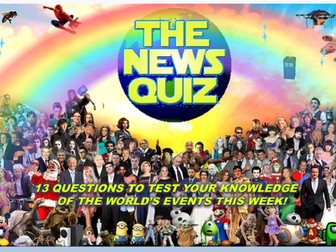 CURRENT WEEK The News Quiz 11th - 18th January 2021 Form Tutor Time Current Affairs