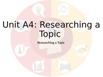 A4 Researching a Topic - Level 1 Public Services RQF