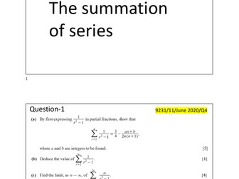 9231_Chapter 3_Topical Questions_The summation of series