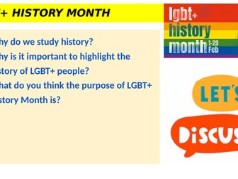 LGBT History Month 2021 - lesson/assembly
