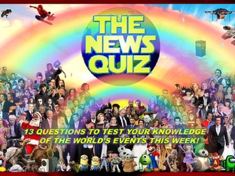 The News Quiz 25th January - 1st February 2021 Form Tutor Time Current Affairs