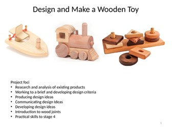 Design and make a wood toy project with FPTs