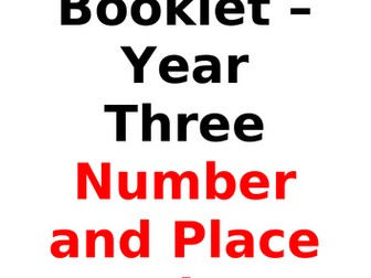 Year Three Maths Booklet - Number/Place Value