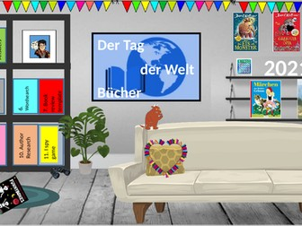 German World Book day Virtual library - fun activities - live lessons/at home