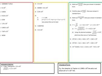 Standard Form (GCSE 1-9)