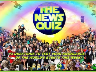 The News Quiz  8th -15th March 2021 Form Tutor Time Current Affairs