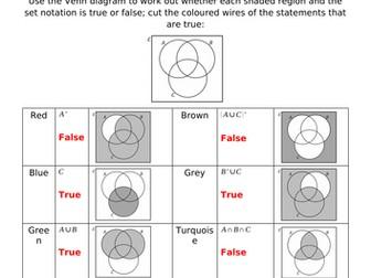 Defuse The Bomb - Venn Diagrams (True or False)