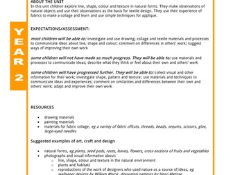 Natural Designs - Art scheme of work for Year 2