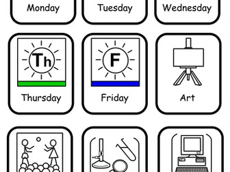 Widgit Symbols for Visual Timetables