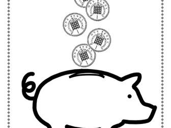 'Working with pennies' Money Workbook