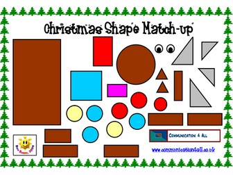 Christmas Shape Picture Match Up!