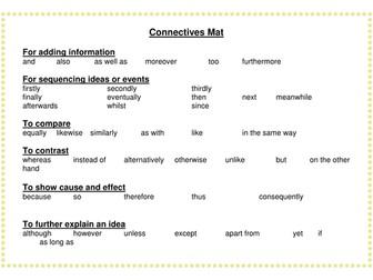 connectives mat