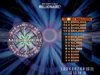 Gravity and Space  - who wants to be a millionaire?