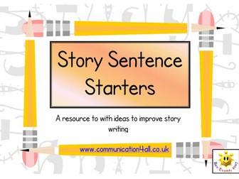 Story Sentence Starters & Openers: writing ideas