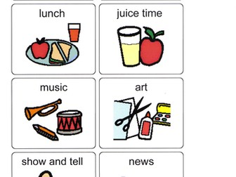 PCS visual timetable/work programme