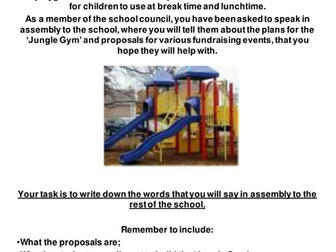 SATs Writing 'Persuasion/Informative' Speech