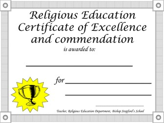 Certificate template by flora hoori teaching resources tes yelopaper Gallery