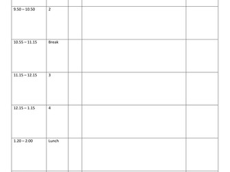 weekly planner template by londinium teaching resources tes