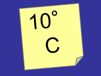 Temperature - reading and marking a scale - starter activity