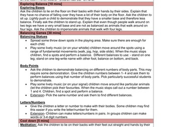 Key Stage 1 Multi Skill Lesson Plans