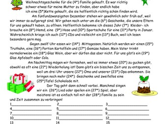 German Christmas, Cases and Adjective endings