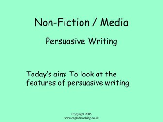 Persuasive Writing: Brief overview