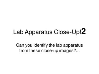 Lab Apparatus Close Up