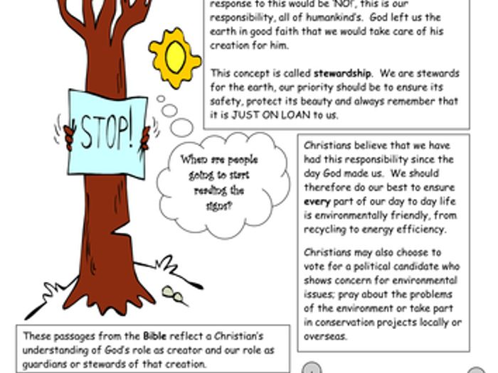 stewardship in christianity by katjasass teaching resources tes rh tes com High Resolution Clip Art Borders High Resolution Coloring Book Tree