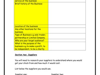 Business plan template by flaink teaching resources tes business plan template wajeb Choice Image