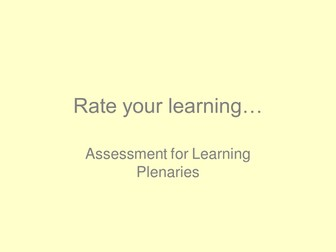 Rate your Learning AfL for MFL