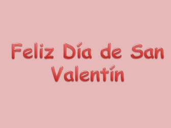 Spanish Valentine's Day PPT